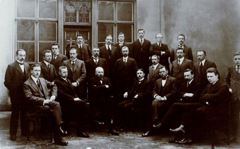 Groepsfoto Publieke Werken Tilburg 1917 Foto RAT