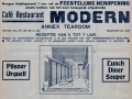 "Advertentie NTC 1932 restaurant ""Modern"""
