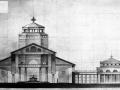 Tekening Jos.C.A.Schijvens voor de cursus kerkelijke architectuur.