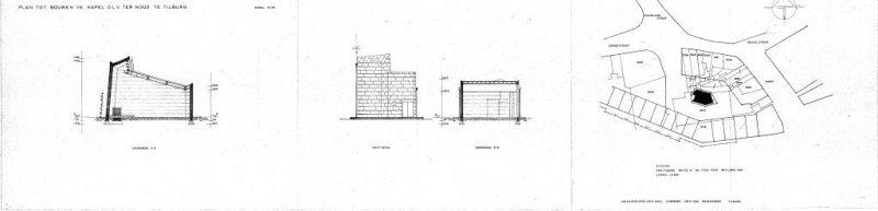 Bouwtekening Kapel OLV ter Nood Tilburg