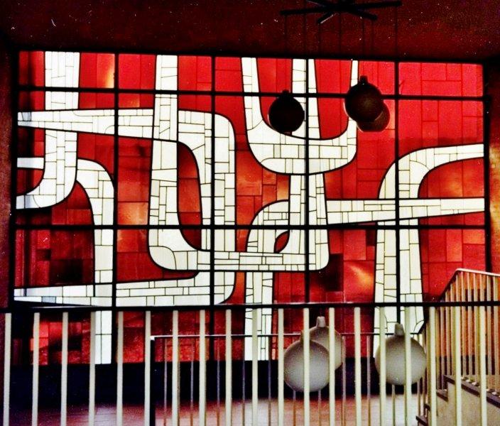 Glas-in-loodraam Jan Dijker