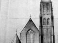 Tekening exterieur Kerk Sint Jan Onthoofding Goirle 1956