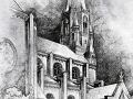 Tekening Jos Schijvens Fellenoordkerk Eindhoven 1948