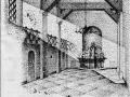 Schetsontwerp interieur noodkapel Zomerstraat 1949