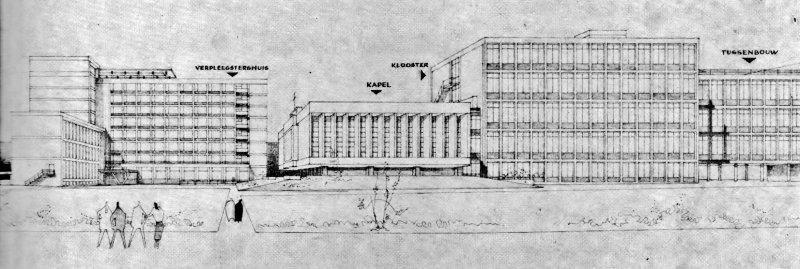 Tekening uitbreiding Carolus ziekenhuis Den Bosch